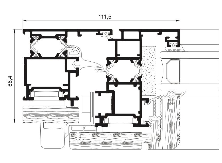 carpinteria mixta de aluminio y madera. ventanas y carramientos
