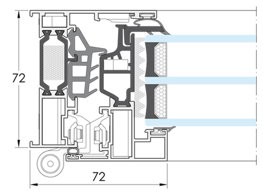 Cerramientos y ventanas de aluminio. IT-72.