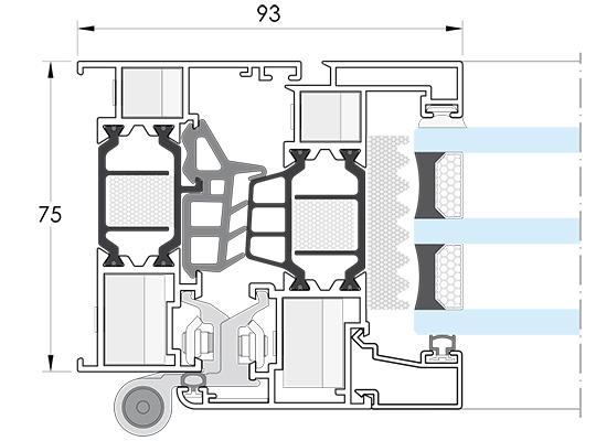 Ventanas y cerramientos de aluminio. IT-75.