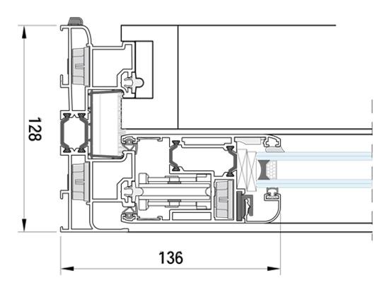 Cerramientos y ventanas de aluminio. Correderas IT-128.