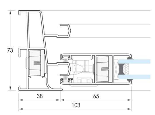 Cerramientos y ventanas de aluminio. Correderas PERIMETRAL-73.